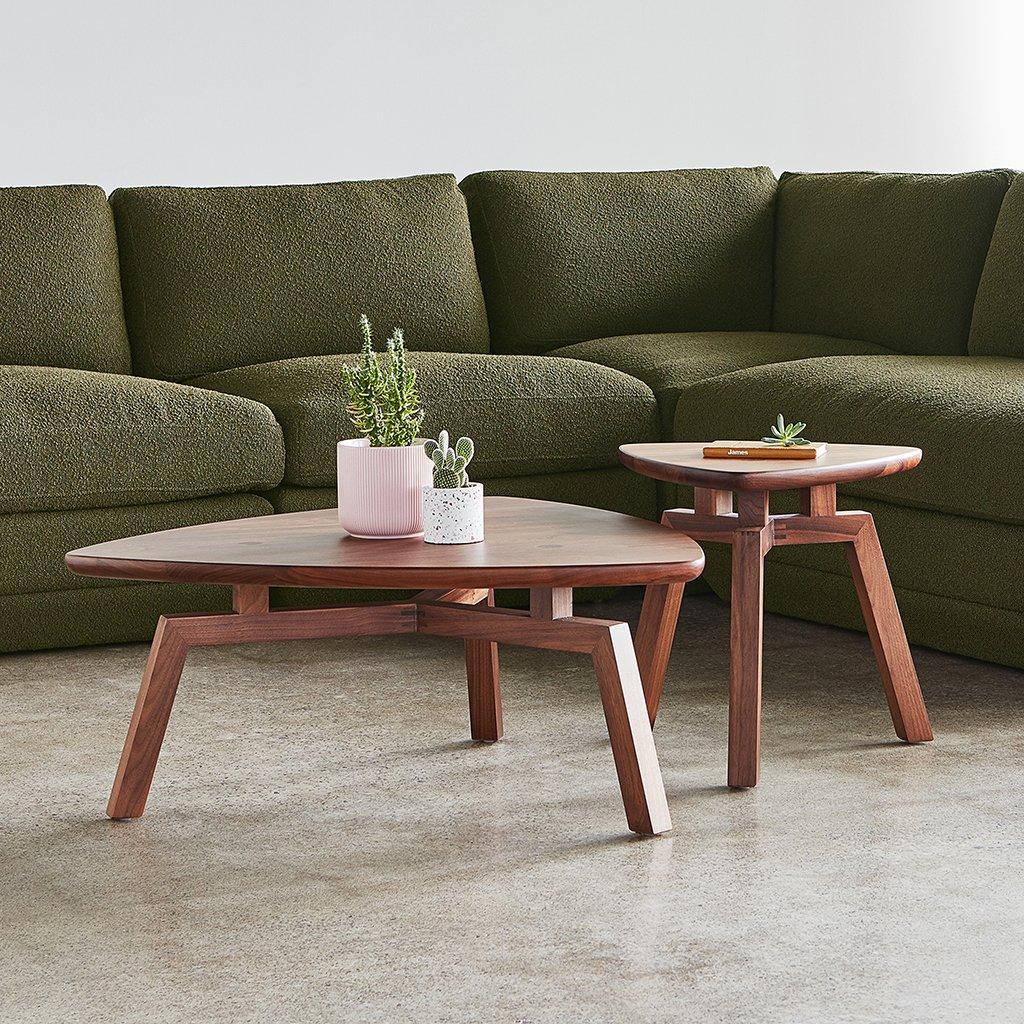 gus modern solana triangular coffee end table