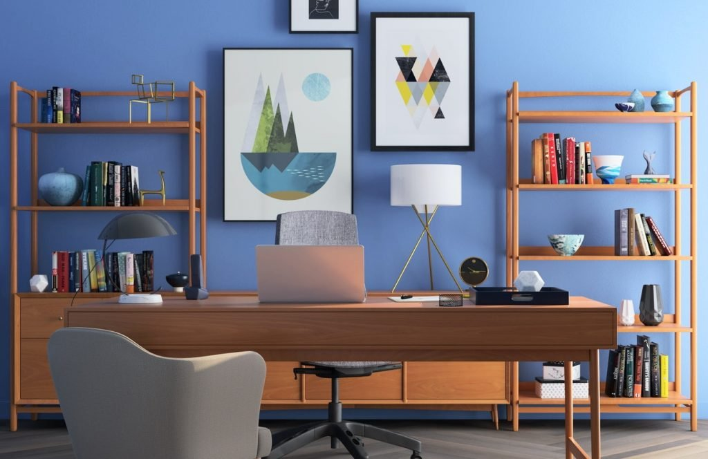 Work from Home Furniture - maximalism layout