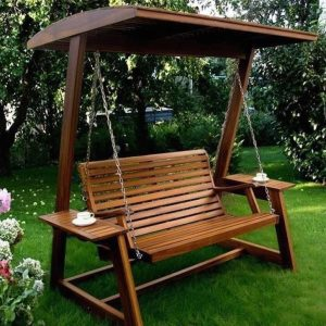 Outdoor Furniture - Swing with Canopy