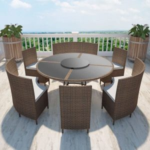 Round Outdoor Dining Set